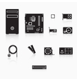 Computer accessories vector image