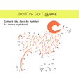 connect dots numbers to reveal a sheep vector image vector image