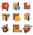 Construction Work Icons vector image vector image