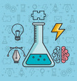 creative solution science brain knowledge vector image
