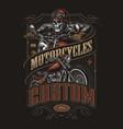 custom motorcycle vintage colorful label vector image vector image