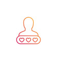 customer satisfaction icon linear vector image vector image