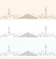 dusseldorf hand drawn skyline vector image vector image