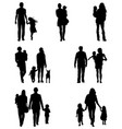 families at walking vector image vector image
