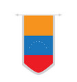 flag of venezuela on a banner vector image vector image