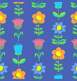 floral seamless pattern with tranparency elements vector image