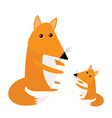 Fox mother and baby Cute cartoon character set vector image vector image