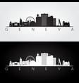 geneva skyline and landmarks silhouette vector image vector image