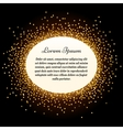 Golden glitter sparkles label vector image