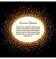 Golden glitter sparkles label vector image vector image
