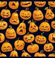 halloween holiday pumpkin seamless pattern vector image vector image