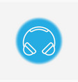 headphone icon sign symbol vector image vector image