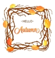 Hello Autumn Background Bright branch and leaves vector image vector image