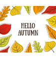 hello autumn banner template with bright colorful vector image vector image
