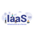 iaas infrastructure as a service technology vector image vector image