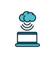 laptop cloud computing connection internet of vector image