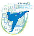 man training karate card vector image vector image