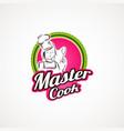 master cook logo symbol icon vector image