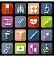 Medical icons flat vector image vector image