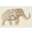 Mehendi Indian elephant icon vintage colors vector image vector image