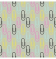 Paper clip seamless pattern vector image vector image