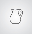 Pitcher outline symbol dark on white background