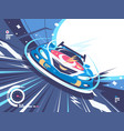 power racing car on speed track vector image