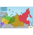 Russian Federation map with selectable territories vector image vector image
