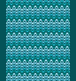 seamless pattern with wavy blue and turquoise vector image vector image