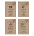 set of cocoa packaging vector image vector image
