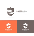 shield and hands logo combination Security vector image vector image
