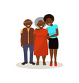 smiling afro american black elderly couple and vector image vector image