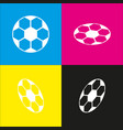 soccer ball sign white icon with vector image vector image