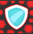 stop covid-19 background with shield vector image