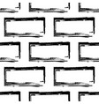 stylized brick wall pattern bw vector image vector image