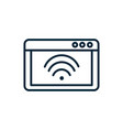 tablet computer wifi internet things line icon vector image