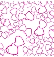 Two Hearts Seamless Pattern Love Wrapping Texture vector image vector image