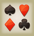 vintage retro gambling cards icons vector image