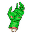 zombie hand symbol icon design beautiful isolated vector image