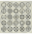 crosshairs vector image