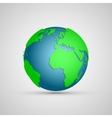Globe Icon with Map of the Continents vector image