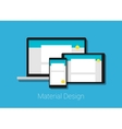 material deign responsive interface layout vector image