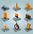 summer gradient isometric icons vector image