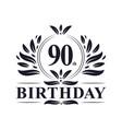 90 years birthday logo 90th birthday celebration
