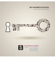 a keys with icons of business as a background vector image vector image