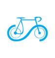 abstract bicycle icon vector image vector image