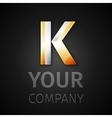 abstract logo letter K vector image