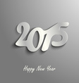 Abstract New Year card on a gray template vector image vector image