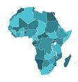 Africa silhouette map vector image vector image