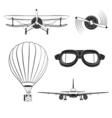 Aircraft Design Elements set vector image